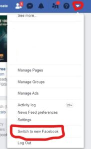 New Facebook look